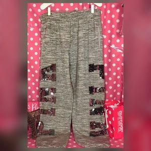 Pink victoria's Secret bling campus sweatpants